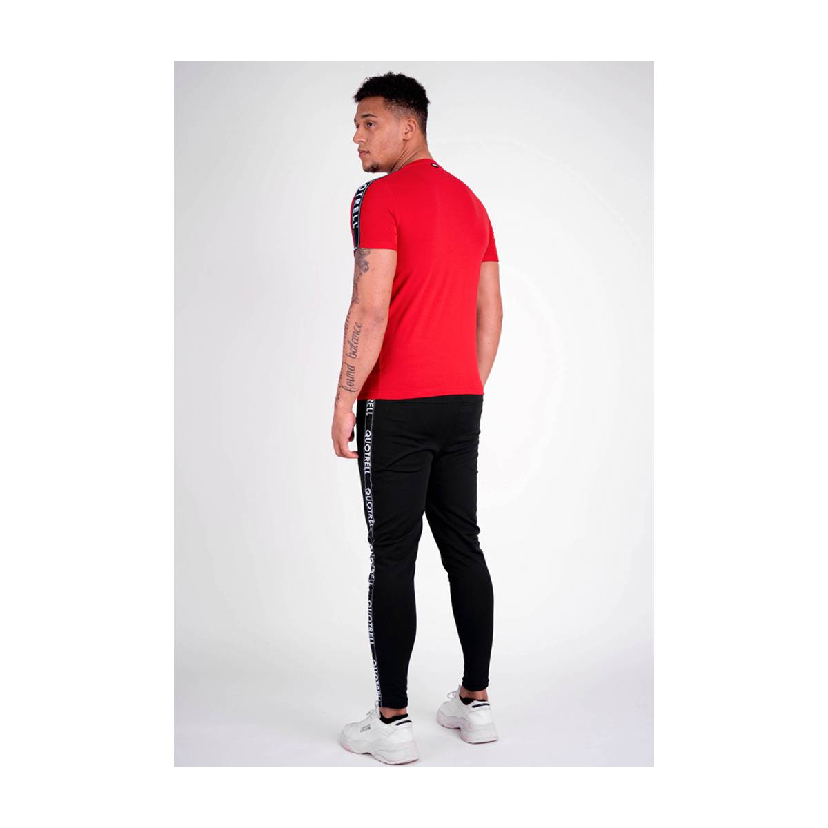 Quotrell QUOTRELL SIGNATURE TEE Rood