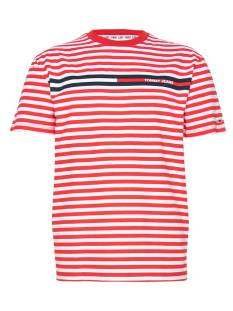 Tommy Jeans Shirt Tommy Jeans DM0DM084490 TJM BRANDED STRIPE Print T-Shirt 0ex deep crimson / multi