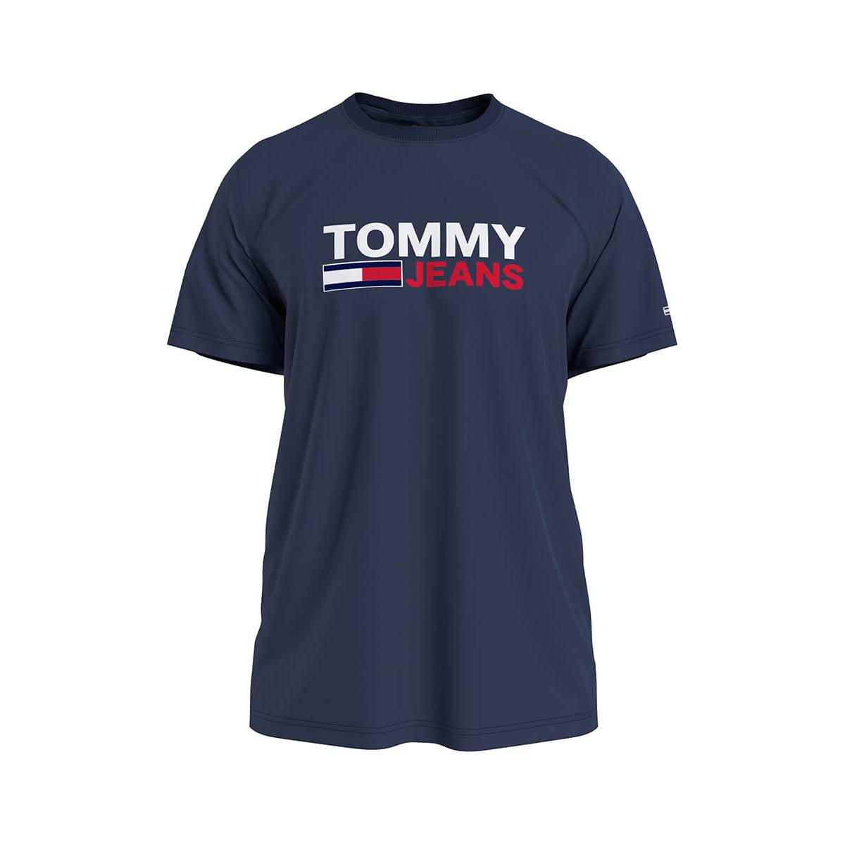 Tommy Jeans DM0DM10214 CORP LOGO TEE Blauw