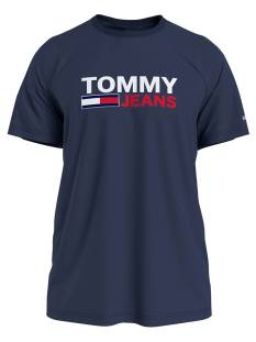 Tommy Jeans Shirt Tommy Jeans DM0DM10214 CORP LOGO TEE Print T-Shirt c87 navy