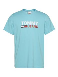 Tommy Jeans Shirt Tommy Jeans DM0DM10214 CORP LOGO TEE Print T-Shirt cta chlorine blue