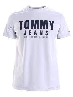 Tommy Jeans Shirt Tommy Jeans DM0DM10243 CENTER CHEST TOMMY Print T-Shirt ybr white