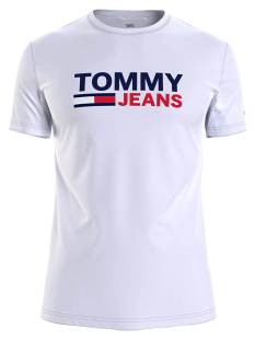 Tommy Jeans Shirt Tommy Jeans DM0DM10626 SKINNY CORP TEE Print T-Shirt ybr white