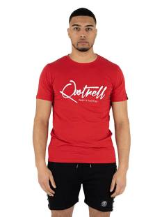 Quotrell Shirt Quotrell SIGNATURE T-SHIRT TH39489 Print T-Shirt red 400