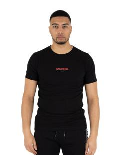 Quotrell Shirt Quotrell WING T-SHIRT TH00022 Print T-Shirt black/red 1108