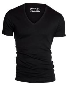 Garage Shirt Garage 0304 DEEP V-NECK Basic T-Shirt black