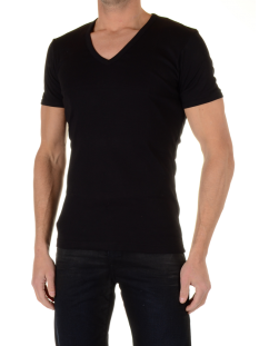 Garage 0304 DEEP V-NECK Zwart
