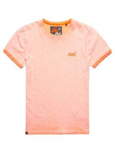 Superdry Shirt Superdry M10011TOF3 O L LOW ROLLER TEE Basic T-Shirt worn orange zrc