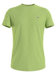 Tommy Jeans Shirt Tommy Jeans DM0DM09586 JASPE CREW NECK Basic T-Shirt lt3 faded lime