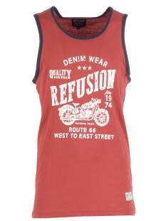 Refusion Shirt Refusion 209224M SINGLET PRINT Singlets rose wood/total eclipse