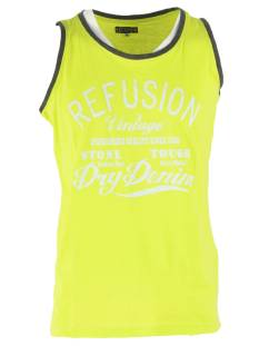 Refusion Shirt Refusion RE-MS-192 SINGLET Singlets 007 lime punch