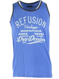 Refusion Shirt Refusion RE-MS-192 SINGLET Singlets 006 dazling blue