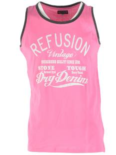 Refusion Shirt Refusion RE-MS-192 SINGLET Singlets 009 shocking pink