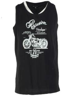 East Street 6 Shirt East Street 6 RE-MS-191 SINGLET MOTOR Singlets 003 black