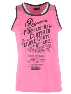 Refusion Shirt Refusion RE-MS-194 SINGLET PROF Singlets 009 shocking pink