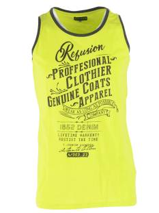 Refusion Shirt Refusion RE-MS-194 SINGLET PROF Singlets 007 lime punch