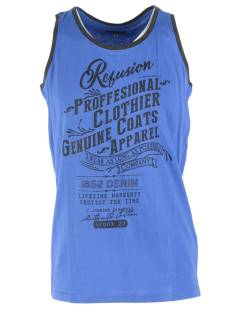 Refusion Shirt Refusion RE-MS-194 SINGLET PROF Singlets 006 dazling blue