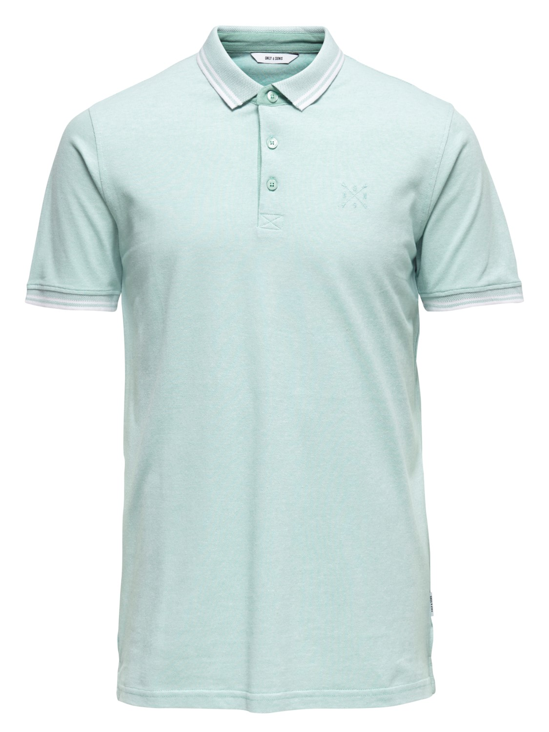 Only & Sons heren Shirts ONSSTAN SS FITTED POLO TEE S Groen