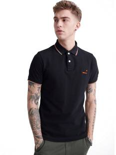 Superdry Shirt Superdry M1110013A POOLSIDE PIQUE SS POLO Poloshirt 02a black