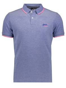 Superdry Shirt Superdry M1110013A POOLSIDE PIQUE POLO Poloshirt fdg cobalt