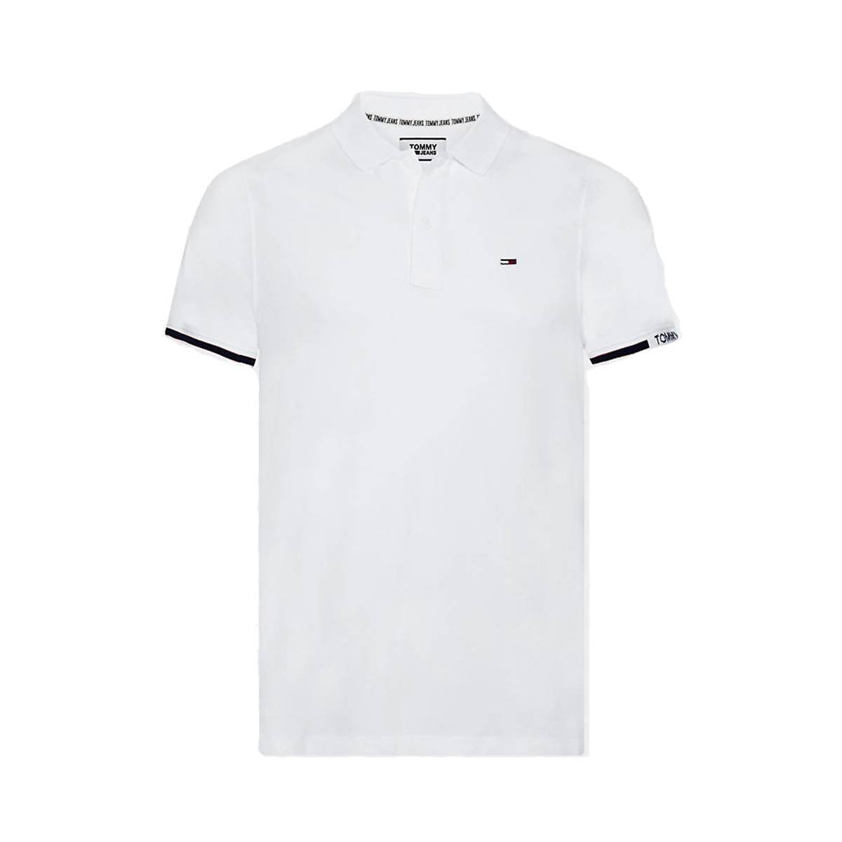 Tommy Hilfiger DM0DM07803 TJM DETAIL RIB POLO Wit