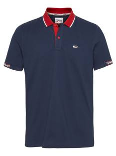 Tommy Jeans Shirt Tommy Jeans DM0DM10326 RIB JAQUARD POLO Poloshirt c87 navy