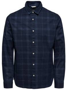 Only & Sons ONSKLAS LS CHAMBRAY CHECK SHIRT Blouse   dark blue denim 22010492