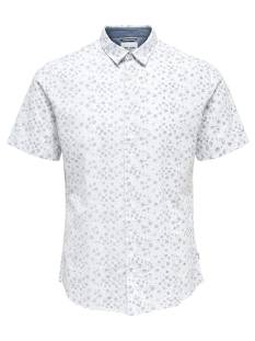 Only & Sons ONSCAIDEN SS AOP LINNEN SHIRT Blouse   white 22012661