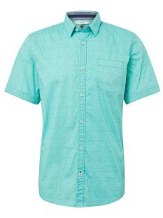 Tom Tailor Overhemd Tom Tailor 1010870 SHIRT SS Blouse   17659 green navy