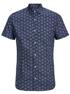 Jack & Jones Premium Overhemd Jack & Jones Premium JPRSUMMER BLACKBURN SHIRT SS Blouse   12152774 navy blazer