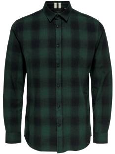 Only & Sons Overhemd Only & Sons ONSEWAN LS SHADOW CHECK SHIRT Blouse   darkest spruce 22014534