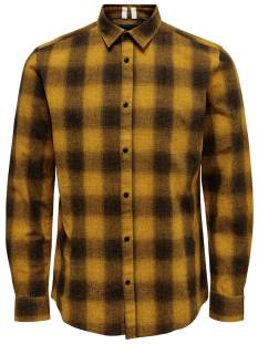 Only & Sons Overhemd Only & Sons ONSEWAN LS SHADOW CHECK SHIRT Blouse   dessert sun 22014534