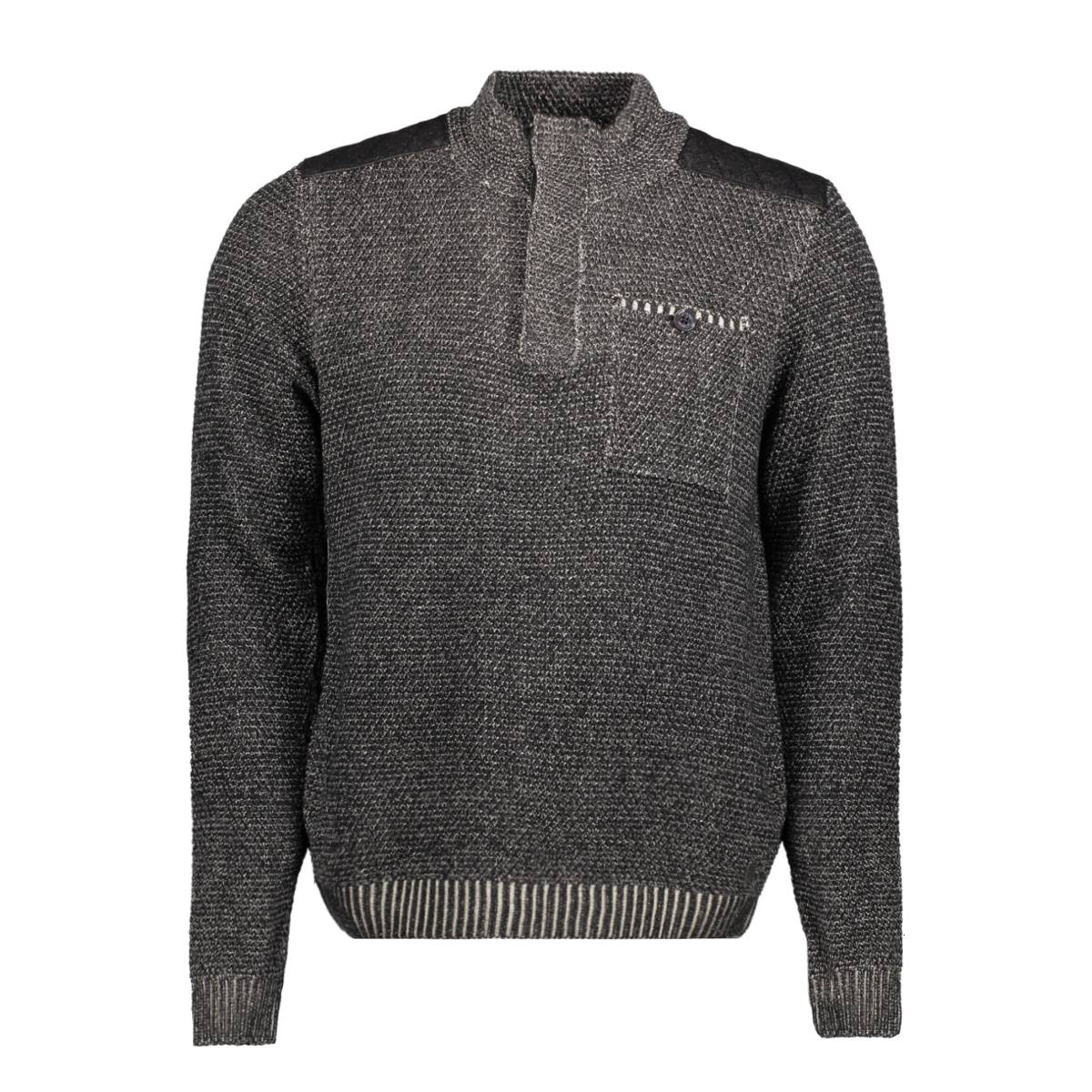 No-Excess 82230909 PULLOVER Zwart