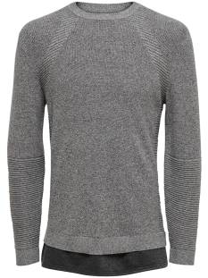 Only & Sons  Only & Sons ONSLEWIS 12 STRUCTURE MIX Trui medium grey melange 22010952