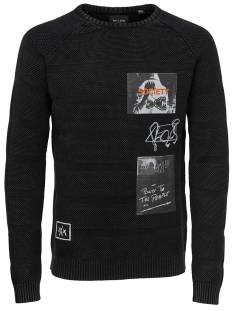 Only & Sons ONSPIXAM STRUCURE PRINTED Trui black 22011025
