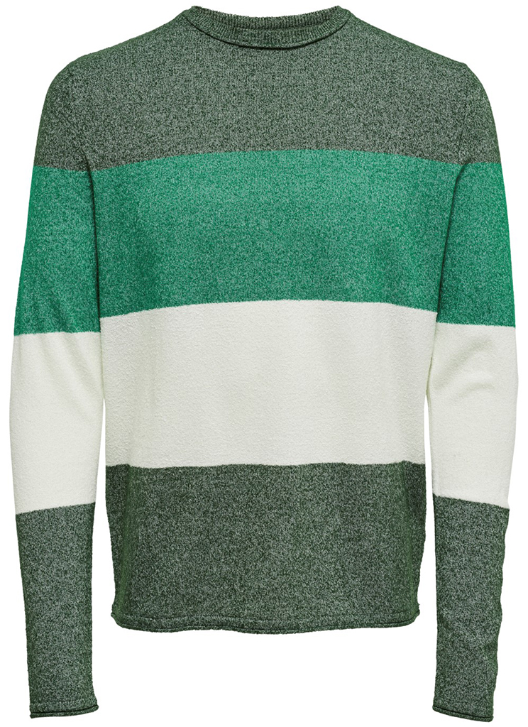 Only & Sons heren Truien ONSTED 12 MULTI KNIT S Groen