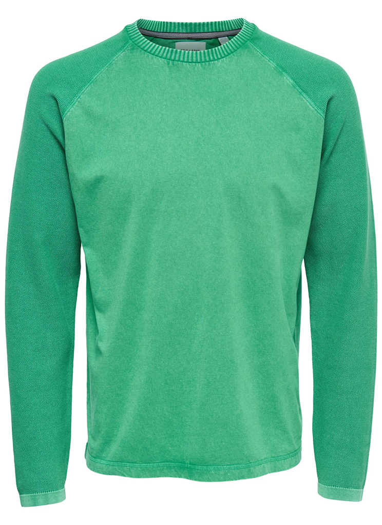 Only & Sons heren Truien ONSWINCENT 12 MIX KNIT S Groen
