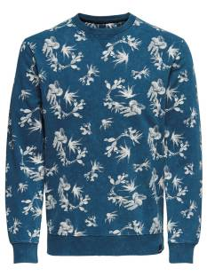 Only & Sons  Only & Sons ONSNED AOP WASHED CREW NECK Trui majolica blue 22012612