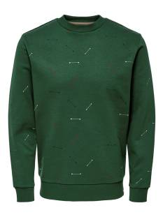 Only & Sons  Only & Sons ONSTALUS CREW NECK AOP Trui trekking green 22014592