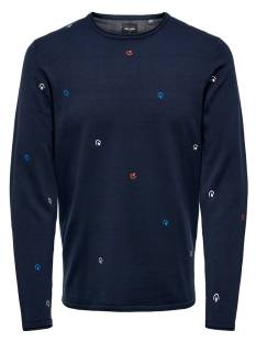 Only & Sons  Only & Sons ONSGARSON 12 AO EMBROIDERY Trui dress blues 22012590