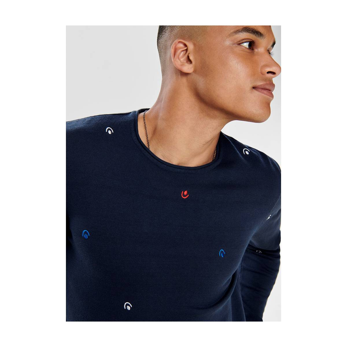 Only & Sons ONSGARSON 12 AO EMBROIDERY Blauw