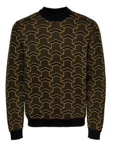 Only & Sons  Only & Sons ONSPAST HIGH NECK KNIT SL 4291 Trui slate black 22014291