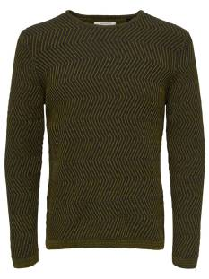 Only & Sons  Only & Sons ONSJOHN CREW NECK KNIT Trui dark navy/chai tea