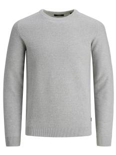 Jack & Jones Premium JPRBLAADAM KNIT CREW NECK STS Trui cool grey 12178459