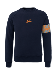 Malelions  Malelions CAPTAIN CREWNECK Trui 306 blue -  neon orange