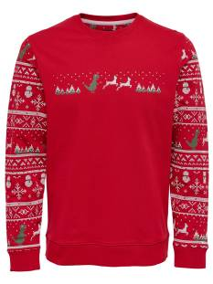 Only & Sons  Only & Sons ONSREXMAS CREW NECK SWEAT Sweater haute red 22011101