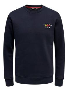 Only & Sons  Only & Sons ONSFOOSBALL CREW NECK SWEAT Sweater dark navy 22014886