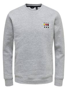 Only & Sons  Only & Sons ONSFOOSBALL CREW NECK SWEAT Sweater light grey 22014886