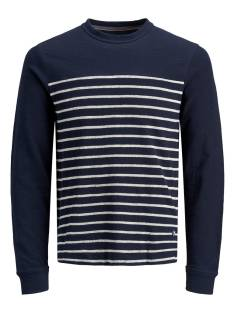 Jack & Jones Premium  Jack & Jones Premium JPRDENIM STRIPE BLU. SWEAT CREW Sweater navy blazer 12163955