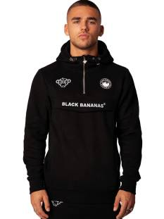 Black Bananas  Black Bananas ANORAK PULL-UP HOODY Hoodies black